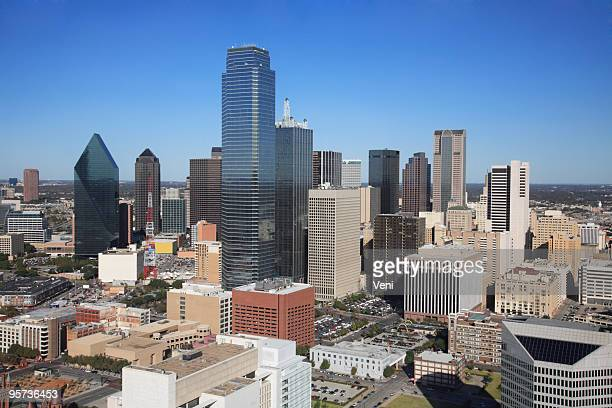Aerial view of the city of Dallas in Texas