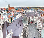 Aerial view of the city of Munich, Germany