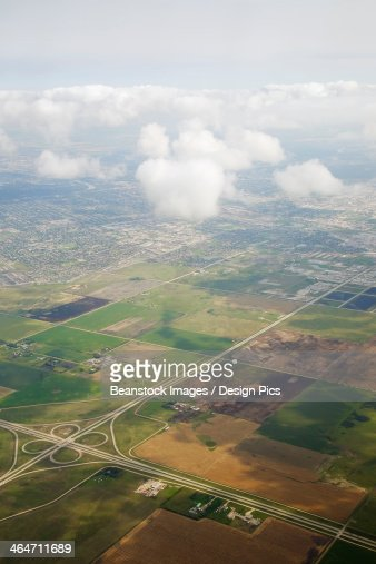 Aerial View Of The City Of Winnipeg