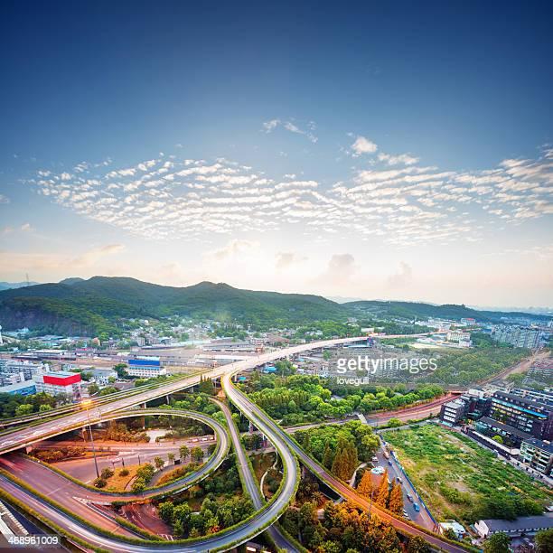 空から見たシティの陸橋