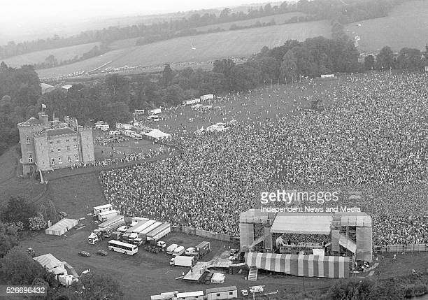 Aerial view of the crowds at the Queen concert in Slane Castle 5/7/86 Photographer Martin Nolan