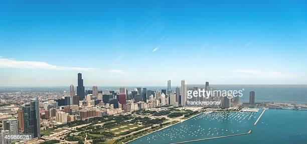 Luftaufnahme der Innenstadt von Chicago