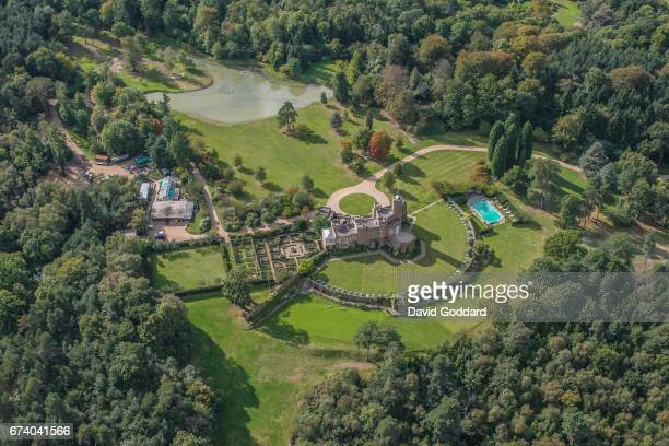 KINGDOM SEPTEMBER 24 Aerial view of the Duke of Windsor's grade II listed Fort Belvedere This Gothic revival residence in Windsor Great Park is where...