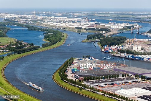 Aerial view of the Europoort