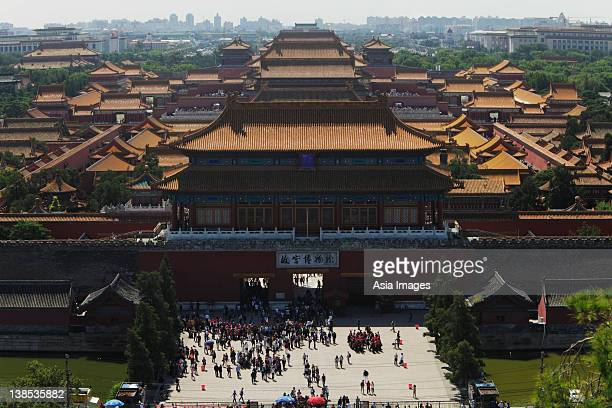 Aerial view of the Forbidden city, Beijing, China