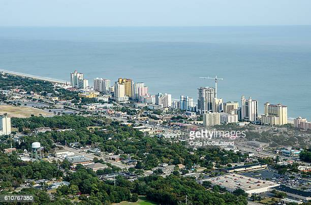 Aerial View of the Grand Strand of Myrtle Beach, South Carolina