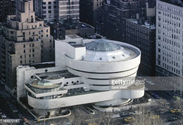 Aerial view of the Guggenheim Museum by Frank Lloyd Wright on February 11 1977 in New York New York
