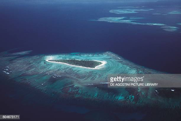 Aerial view of the Isle of Pines New Caledonia Special Collectivity of France
