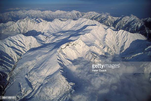 Aerial view of the Japan Alps