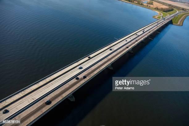 Aerial view of the Ketelbrug bridge