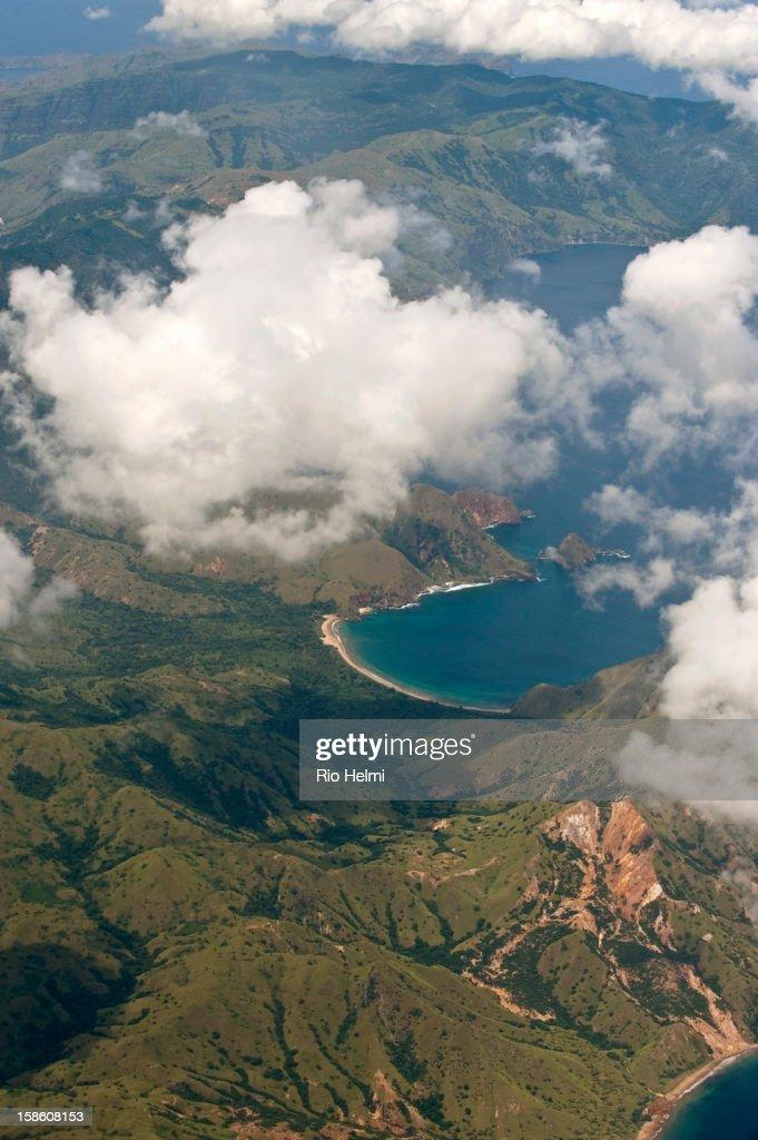 Aerial view of the Komodo National Park..