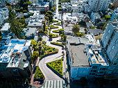 Iconic California landmark seen from above