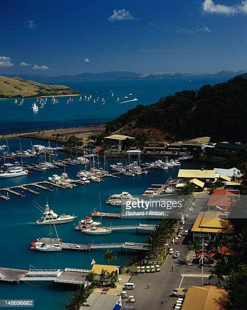 Aerial view of the Marina on Hamilton Island - Queensland