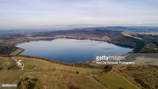 Aerial view of the Martignano Lake