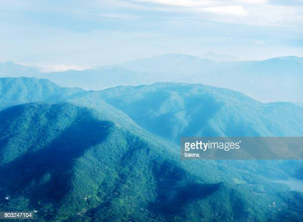 Aerial view of the mountains