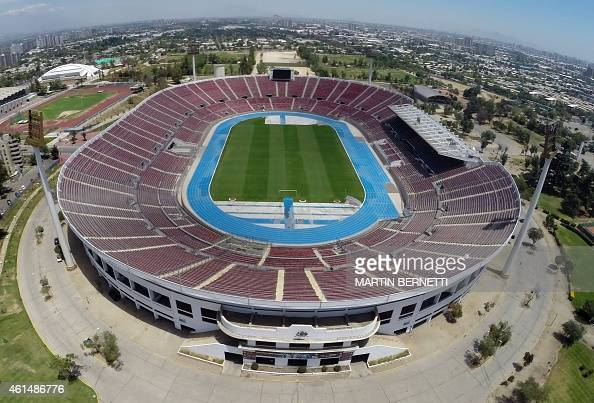 Aerial view of the National stadium which will host the Copa America 2015 in Santiago Chile on January 06 2015 AFP PHOTO/MARTIN BERNETTI