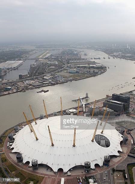 Aerial view of the North Greenwich Arena also known as The Dome which will host Artistic Gymnastics Trampoline Basketball andWheelchair Basketball...