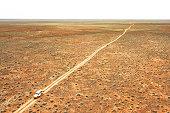 Aerial view of Australian desert region