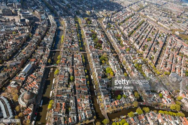 Aerial view of the Old City Centre Amsterdam