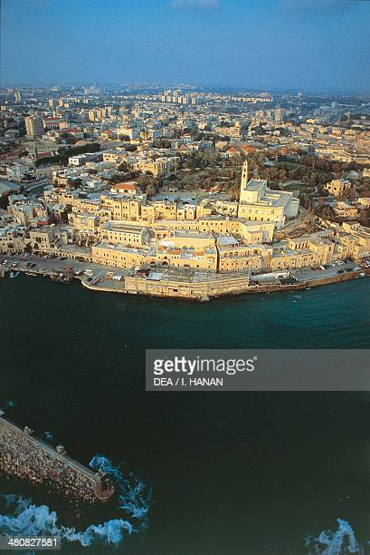 Aerial view of the old city of Jaffa Israel