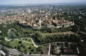 Aerial view of the Old City of Tallinn and its walls 14th16th century Estonia