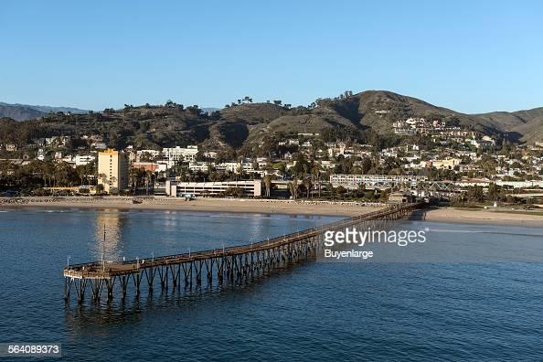 Aerial view of the pier Oxnard California