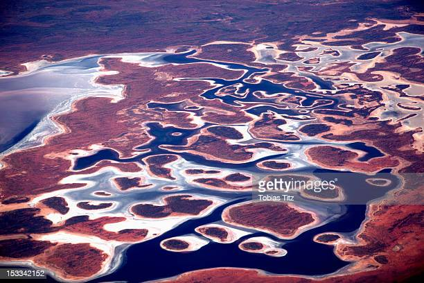 Aerial view of the Pilbara landscape