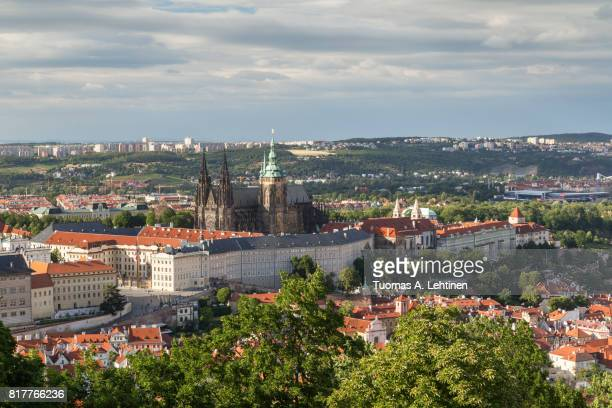 Aerial view of the Prague Castle