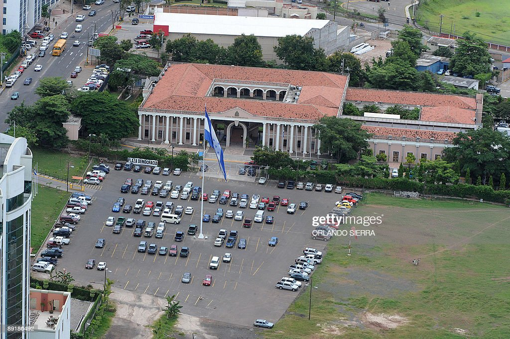Aerial view of the presidential house in Tegucigalpa July 22 2009 Caracas has angrily rejected what it called an 'absurd' demand from Honduras's de...
