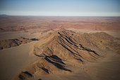 Aerial view of the red desert of Sosusvlei taken on May 15 near Sesriem AFP PHOTO / MARTIN BUREAU