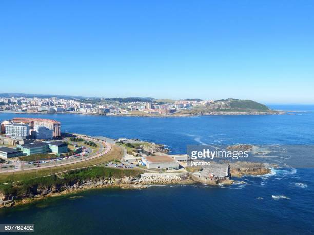 Aerial view of the Ria de La Coruña