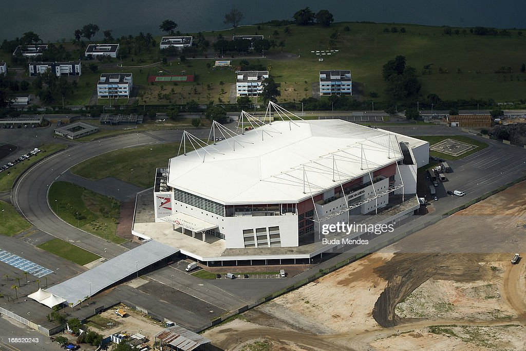 Aerial view of the Rio Olympic Arena that will hosts Gymnastics events and wheelchair basketball in the Paralympics 2016 on May 10, 2013 in Rio de Janeiro, Brazil.