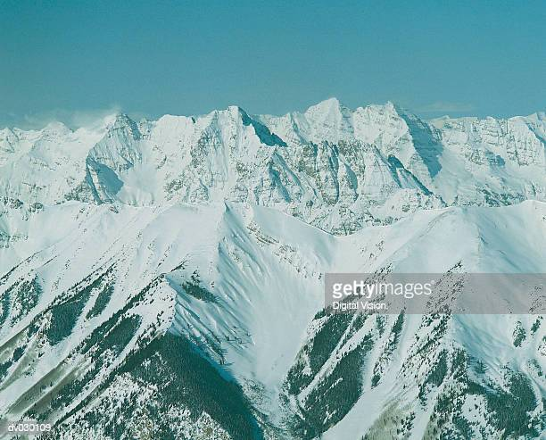 Aerial view of the Rockies, Colorado, USA