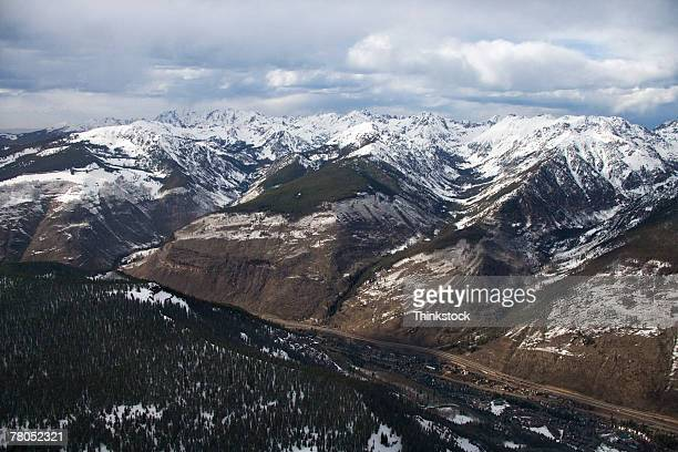 Aerial view of the Rocky Mountains, Colorado