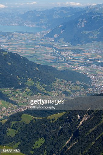 Aerial view of the Romandie : Stockfoto