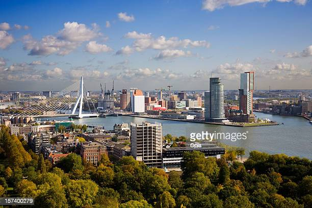 Aerial view of the Rotterdam skyline