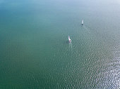 Drone View of the San Diego, bay area