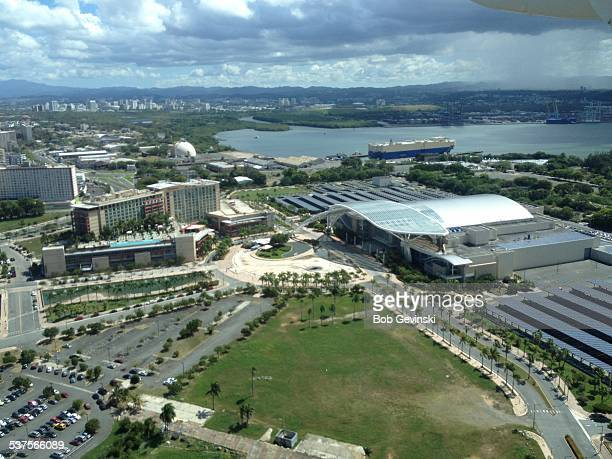 Aerial view of the San Juan convention center in Puerto Rico