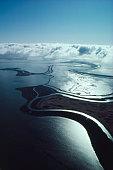 Aerial view of the sea coast of Napa Valley CA United States circa 1970s