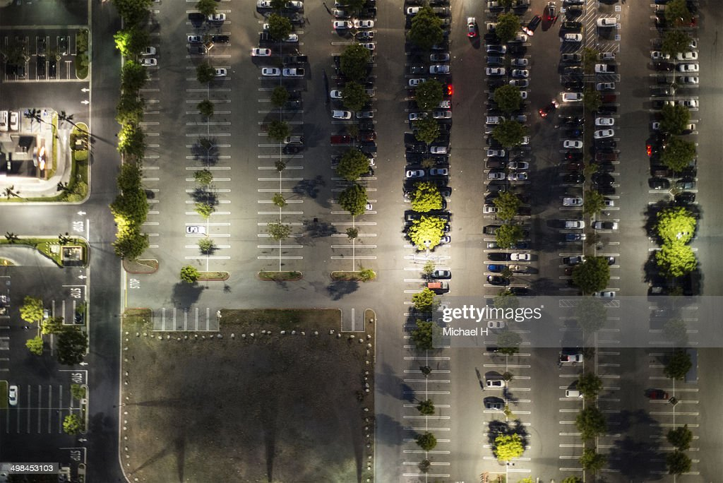aerial view of  the suburb parking,LA : Stock Photo