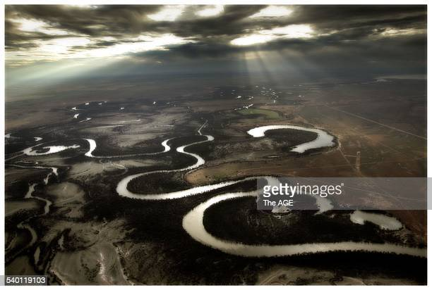 Aerial view of the the Murray River taken from 3000 feet 10 November 2005 THE AGE Picture by SIMON O'DWYER