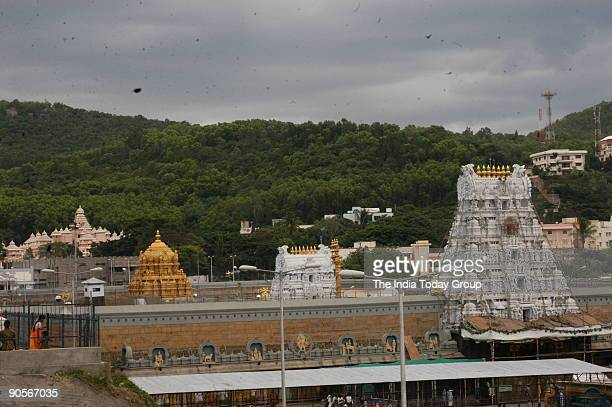Aerial View of the Tirupati Temple in Andhra Pradesh India