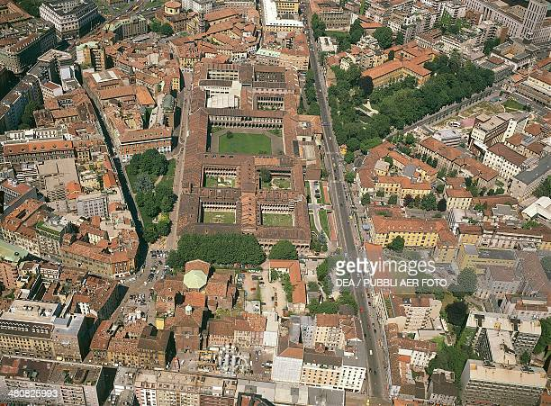 Aerial view of the University of Milan known as Statale in the Ca' Granda building previously a hospital built by Francesco Sforza Lombardy Region...