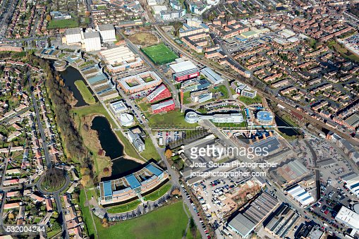 Aerial view of The University of Nottingham, Jubilee Campus