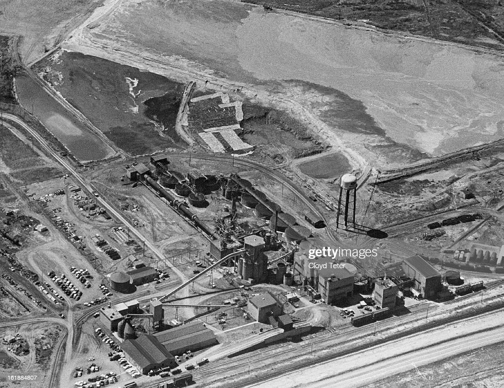 APR 15 1960 JUN 8 1960 Aerial View Of The Uranium Mill And Surroundings At Rifle Colo