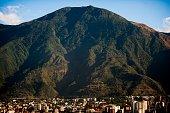 Aerial view of the Waraira Repano mountain also called 'El Avila' in Venezuelan capital Caracas taken on February 15 2012 AFP PHOTO/Leo RAMIREZ