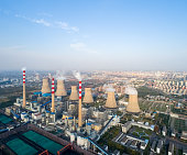 modern large thermal power plant , dezhou city ,shandong province,China