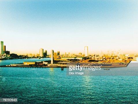 Aerial View of Tokyo Bay, Japan : Stock Photo