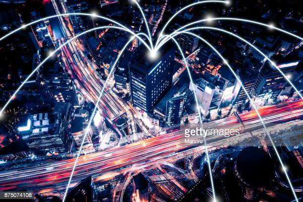東京高速道路ネットワークの航空写真