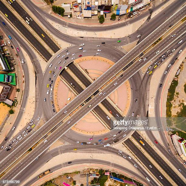 Aerial View Of Traffic Circle